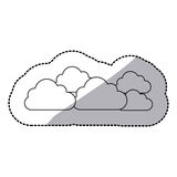 Figure cloud sticker icon. Illustraction design image Royalty Free Stock Images