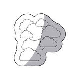 Figure cloud sticker icon. Illustraction design image Royalty Free Stock Photography