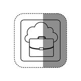 Figure cloud suitcase network icon Royalty Free Stock Images