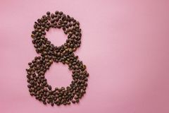 Figure of 8 from coffe beans royalty free stock photography