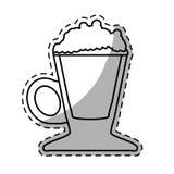 Figure coffee cream glass icon Stock Image