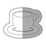 Figure coffee cup and plate icon Stock Photography