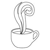 Figure coffee cup with steam Royalty Free Stock Images