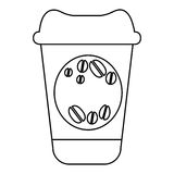 Figure coffee drink food icon Royalty Free Stock Photography