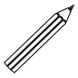 Figure color pencil icon stock. Illustraction design image Stock Photography