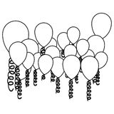 Figure colored party balloon with serpentine icon. Illustraction design Royalty Free Stock Photo
