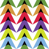 Figure of colored triangles Royalty Free Stock Images
