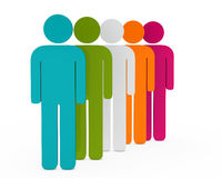 Figure colorful team. Colorful team in series on with background Stock Image