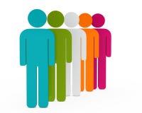 Figure colorful team Stock Image