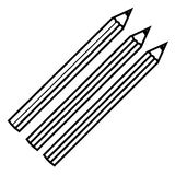 Figure colors pencils icon stock. Illustraction design image Royalty Free Stock Photography