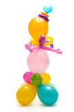 Figure from colourful balloons. Figure made from colourful balloons isolated on white Stock Photography