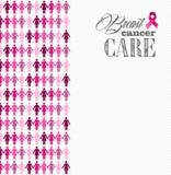 Figure componente delle donne del nastro di consapevolezza del cancro al seno Fotografia Stock