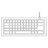 Figure computer keyboard icon. Illustraction design Royalty Free Stock Photo