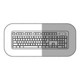Figure computer keyboard icon Royalty Free Stock Photo