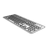 Figure computer keyboard icon Royalty Free Stock Image