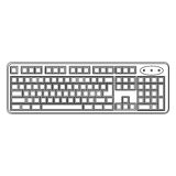 Figure computer keyboard icon Royalty Free Stock Photos