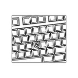 Figure computer keyboard with recycle symbol icon Royalty Free Stock Image