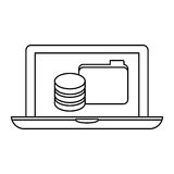 Figure computer web hosting icon design Stock Photo