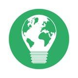 Figure conception d'ampoule de planète d'eco illustration libre de droits