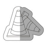 Figure cones of fallen traffic icon. Illustraction design Royalty Free Stock Photo