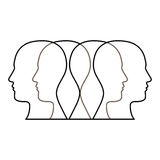 Figure contour humans icon Royalty Free Stock Photo