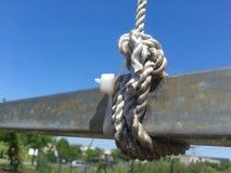 figure corde du double huit de noeud Photographie stock