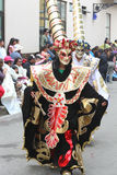 Figure Costumed che marciano nella parata di carnevale, Perù Fotografie Stock