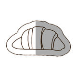 Figure croissant bread icon. Illustraction design image Stock Photo