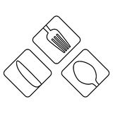 Figure cutlery icon image design Royalty Free Stock Photos