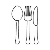 Figure cutlery icon image design Stock Photo