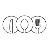 Figure cutlery icon image design Royalty Free Stock Photography
