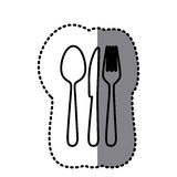 Figure cutlery tools icon Stock Photo