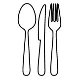 Figure cutlery tools icon Stock Image