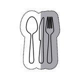 Figure cutlery tools icon Royalty Free Stock Photography