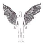 Figure d'un ange ailes Photo libre de droits