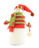 Figure d'un bonhomme de neige Photos libres de droits
