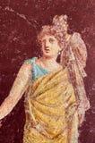 Figure d'une femme peinte dans un fresque dans un Domus de Pompeii, Italie image stock