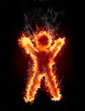 Figure dans l'incendie illustration de vecteur