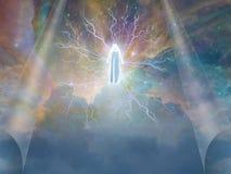 Figure dans les cieux Images libres de droits