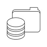 Figure data center related icon image Stock Photos