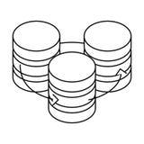 Figure database hosting icon image design Royalty Free Stock Photo