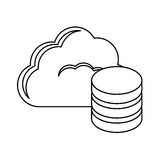 Figure database optimization server banner icon. Image,  illustration Royalty Free Stock Image