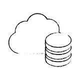 Figure database optimization server banner icon. Image,  illustration Stock Image