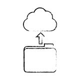 Figure database storage icon image design. Vetor illustration Royalty Free Stock Photo