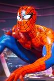 Figure de cire de portrait d'homme d'araignée Image libre de droits