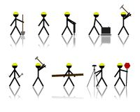 Figure del bastone della costruzione Fotografie Stock Libere da Diritti