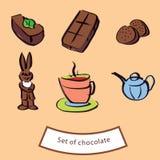 Figure del cioccolato Illustrazione di Stock