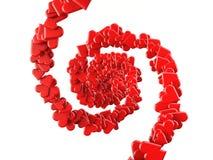 Figure del focolare che formano due spirali Fotografie Stock