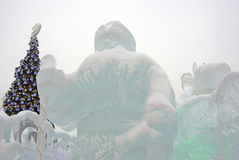 Figure del ghiaccio a Mosca Albero di Natale Fotografia Stock Libera da Diritti