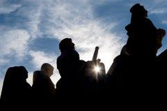 Figure del monumento a Madrid fotografia stock libera da diritti